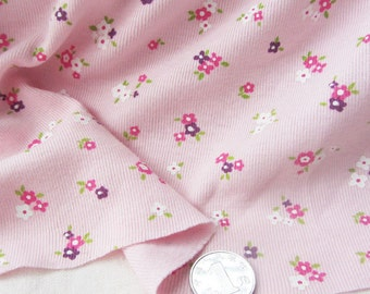Kids baby print rib knit fabric 100 cotton floral by yard for Knit fabric childrens prints