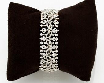 Diamond Bracelet, 18K Gold Bracelet, Diamond Jewelry, Gold and Diamond Bracelet, Diamond Jewelry, Wedding bracelet, 18K Gold Bracelet