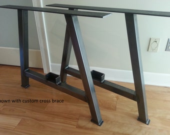 Metal Table Legs - Steel Table legs - Iron Table Legs - A-Frame 2""