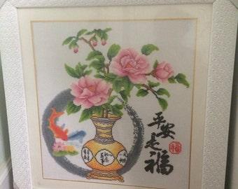 Handmade Cross-stitch (Vase)