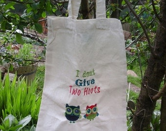 I dont give 2 hoots tote bag
