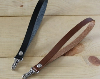 Replacement Leather Wristlet Strap Key Lanyard Clutch Purse Bag Keychain Wallet Wrist Strap_SS Clip_FREE SHIPPING