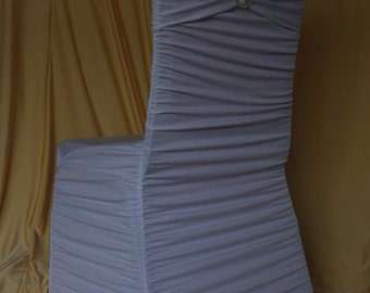 Ruffled/Swagged Spandex/Lycra Chair Cover- various colours available!