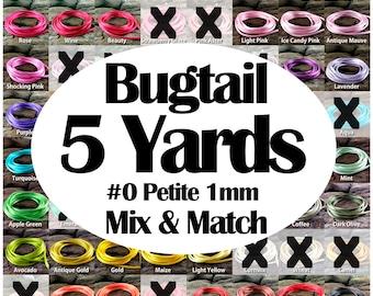 5 yards Bugtail Satin Rayon Cord #0 Petite