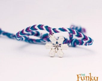 Disney Frozen Inspired Friendship Bracelet With Snowflake Charm - Free Shipping