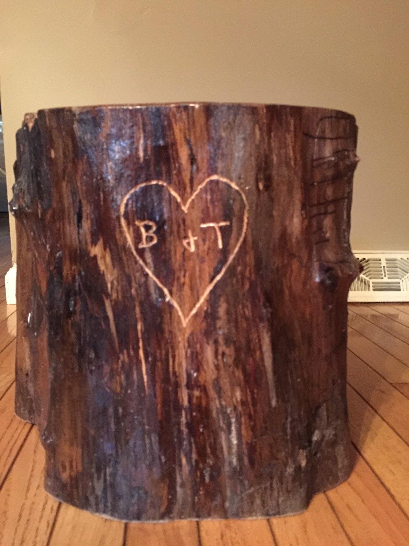rustic tree stump cake stand. Black Bedroom Furniture Sets. Home Design Ideas
