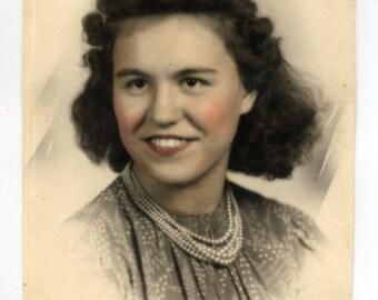 Vintage Olan Mills Colorized Portrait