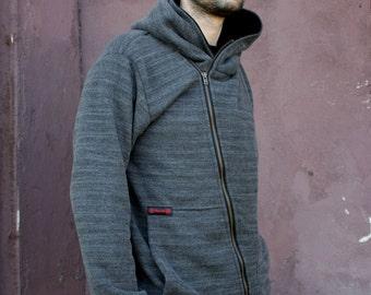 Sweater, Fastened diagonally, Cotton, Navaho