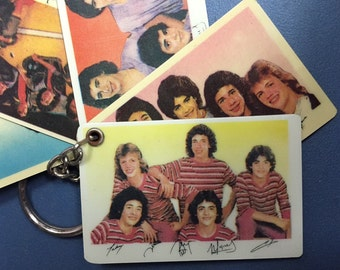 Vintage Menudo keychain features multi-picture slides nm+ Ricky Martin 5 pcs