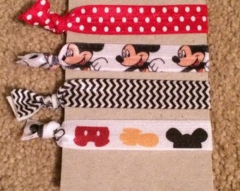 Mickey Mouse Elastic Hair Ties