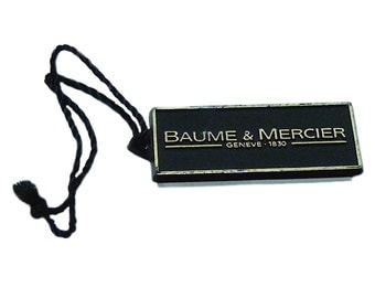 Baume & Mercier Watch Plastic Hang Tag Authentic