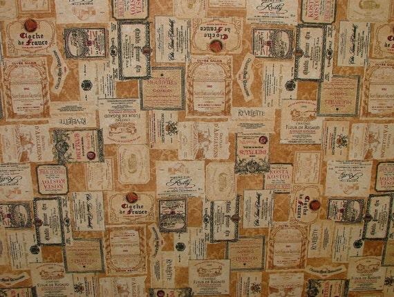 Cave vin fran ais imprim rideau design tissu dameublement for Tissu d ameublement design