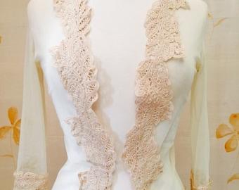 Net and battenburg lace evening jacket