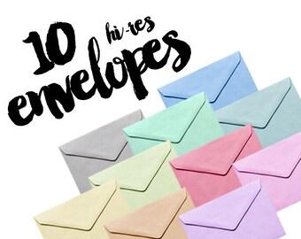 10 hi-res envelopes photo clipart / digital files / png / 300 dpi /