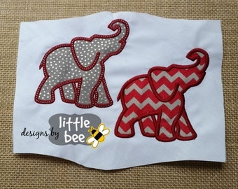 elephant silhouette profile like Alabama or Bama applique outline embroidery design 4x4 5x7 SEW PES DST more Instant Download monogram