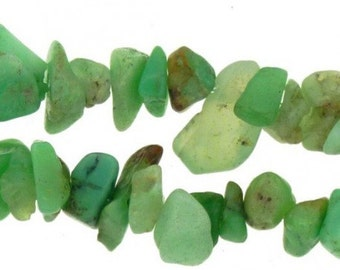 Wire chips beads chrysoprase - necklace 42cm