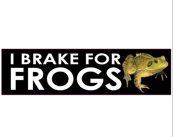 I Brake for Frogs Decal Vinyl or Magnet Bumper Sticker