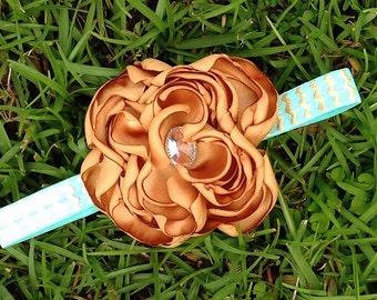 Gold and Mint headband