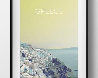 Greece Poster 11x17 18x24 24x36