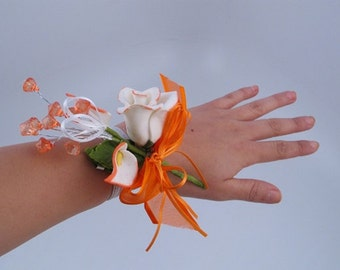 Corsage Wristlet Band - Corsage Making Supply - (12 pieces) - Free Shipping!