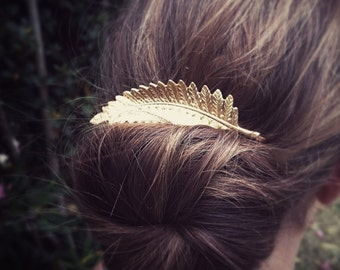 Large Fern Leaf Bobby Pin Gold Fern Leaf Hair Pin Hair Accesories