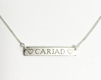 Silver Cariad Necklace