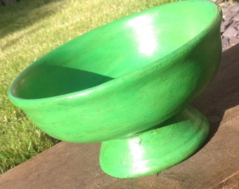 Lovely Green Decorative Bowl - Shabby Chic - Annie Sloan Antibes - Aged