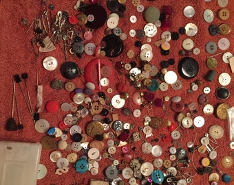 Lot of Buttons and Pins