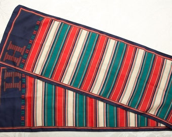 Vintage Striped 'H' Scarf