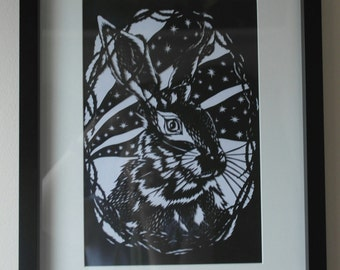 Wild Hare Papercut