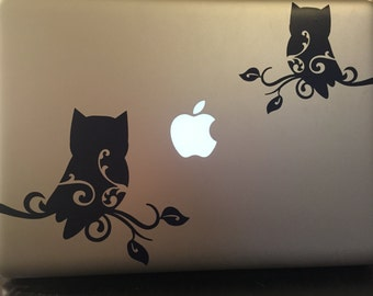 Double Owl Laptop Decal  **Free Shipping**