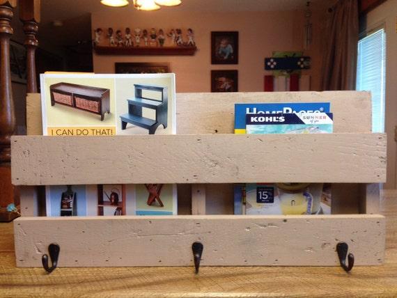 Reclaimed Barn Wood Mail Organizer