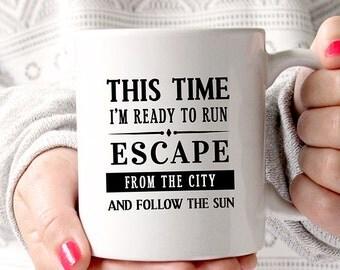 Coffee Mug Ready To Run Mug  - One Direction - Lyrics Coffee Mug