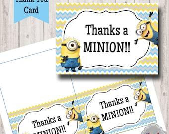 Minion Thank You Card - TY005 - Printable