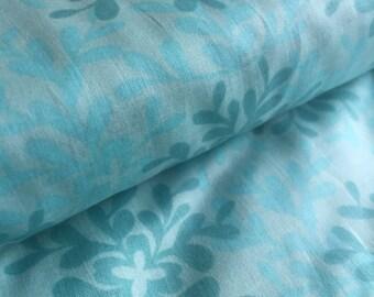 Leaves TURQUOISE Nest Voile Valori Wells FreeSpirit Fabric