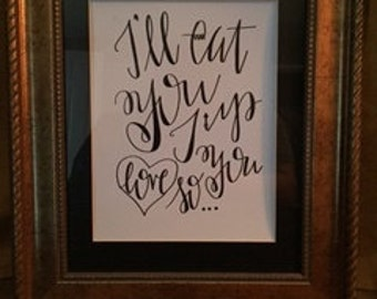 Hand-Lettered I'll Eat You Up Wild Things Quote