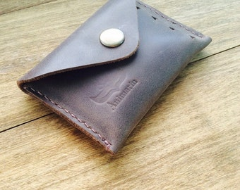 Leather cardholder, cardholder, wallet for a business card holder, wallet card,