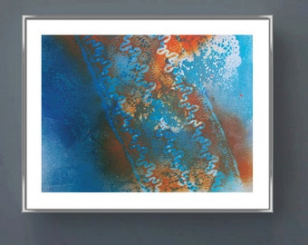 ENVIRONMENT Abstract modern art print expressionist design wall art home decor original mixed media