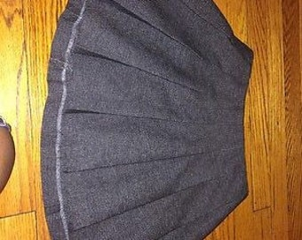 Vintage 90s grey preppy tennis skirt