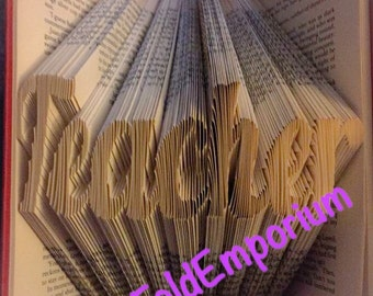 Teacher Book Folding PATTERN 266 FOLDS for a 23cm Book + FREE how to guide Book Art