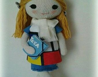 Doll amigurumi schoolgirl
