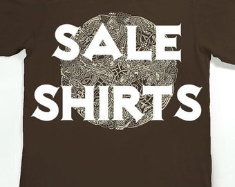 SALE Men's t shirts - discounted screen printed shirts - Slothwing Tees