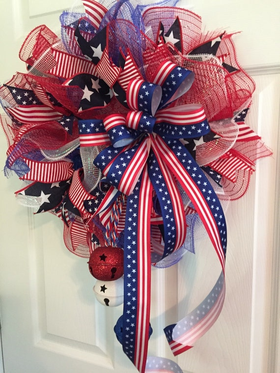 4th Of July Wreath Deco Mesh