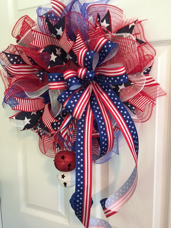 Patriotic Wreath Fourth Of July Wreath Memorial Day Wreath