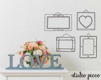 Picture Frame Wall Decals frame wall decal | etsy