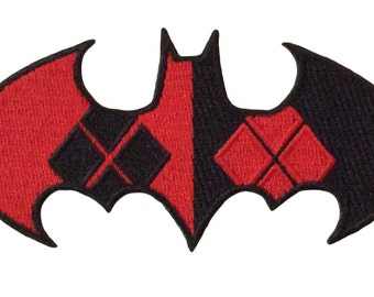 Harley Quinn Logo Shield Embroidered Iron On Patch
