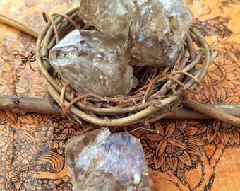Smoky Elestial Quartz Points, SOURCE ENERGY, Spirit Connection, Clarity, WISDOM, Protection, Harmony, Divine Love