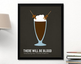 There Will Be Blood movie poster, There Will Be Blood, minimalist, cinema, There Will Be Blood, contemporary art