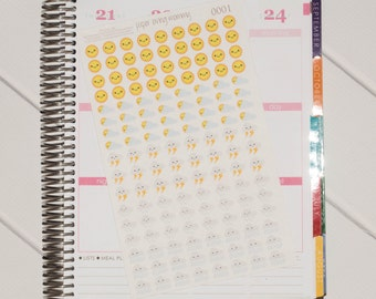 136 Mixed Weather Stickers | Planner Stickers designed for use with the Erin Condren Life Planner | 0001
