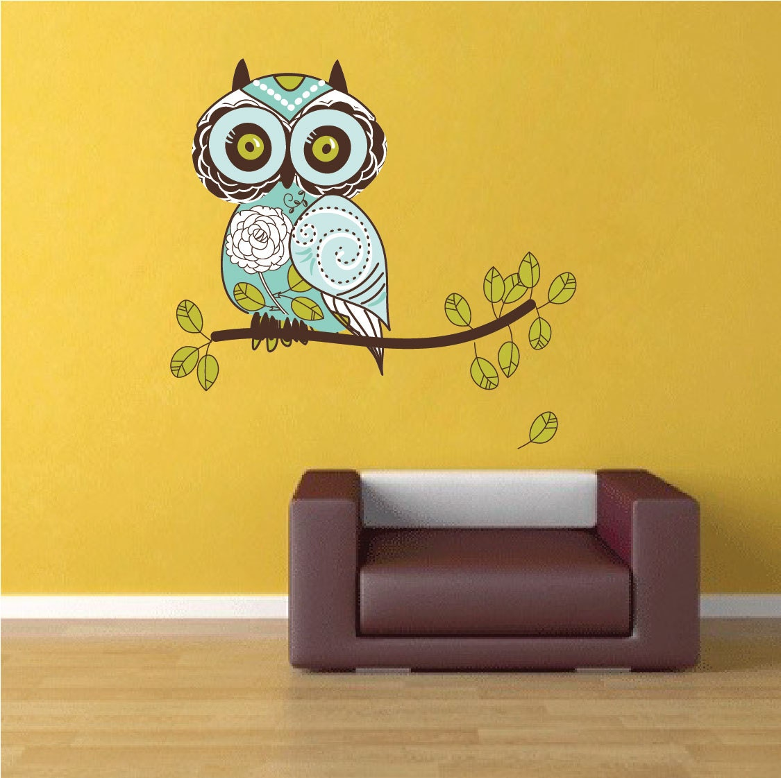 owl wall decal owl wall art sticker owl wall design owl. Black Bedroom Furniture Sets. Home Design Ideas